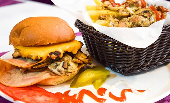 Slide burger